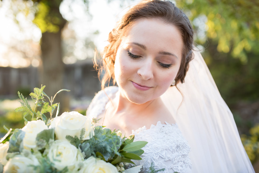 Close up of bride's lashes