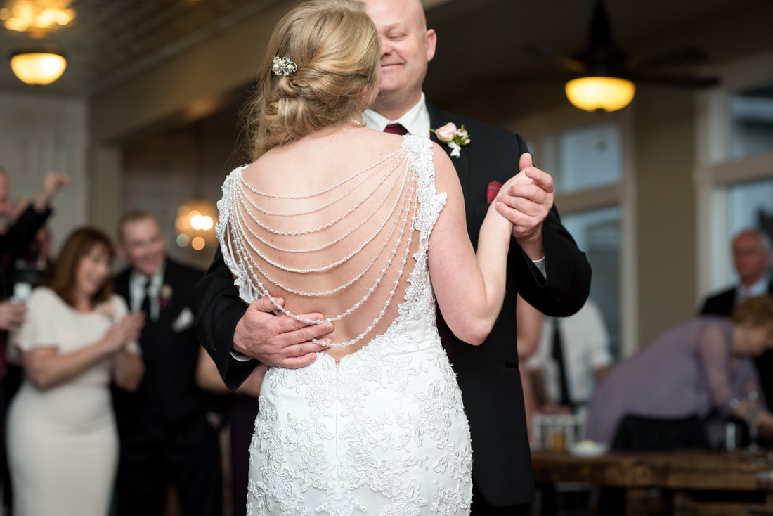Father-daughter dance Traditional wedding and ceremony at Layton, Utah Chantilly Mansion with Flying Gull Photography